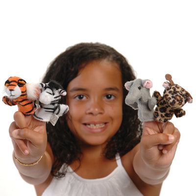 Wild Animal Finger Puppets (1 Dozen) - Toys