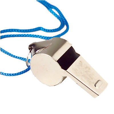 Metal Whistles W, Lanyards (one dozen) - Sports