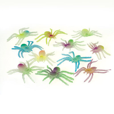 Glow In The Dark Spiders (One Dozen) - Party Themes