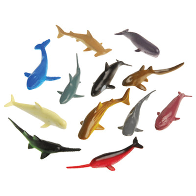 Mini Shark And Whale (One dozen) - Toys