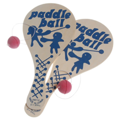 Wood Paddle Balls (One Dozen) - Games and Puzzles