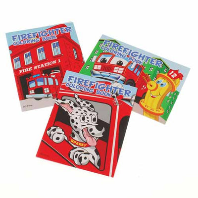 Firefighter Coloring Books (One dozen) - School Stuff