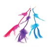 Neon Feather Hair Clips (1 Dozen) - Novelties