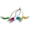 Curly Hair Pieces with Feather (1 Dozen) - Costumes and Accessories