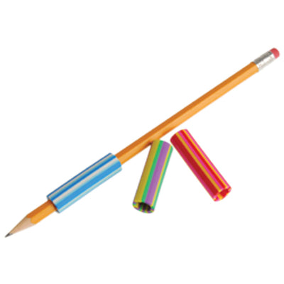 Striped Pencil Grips (1 Dozen) - School Stuff