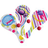 Candy Paddle Balls (One Dozen) - Games and Puzzles
