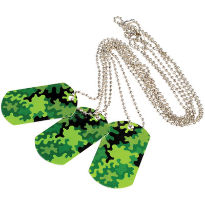 Camo Dog Tags (1 dozen) - Costumes and Accessories