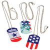 Patriotic Dog Tags (1 dozen) - Holidays