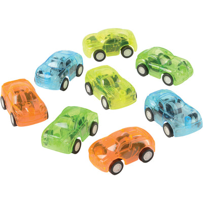 Transparent Pull Back Car (pack of 8) - Toys