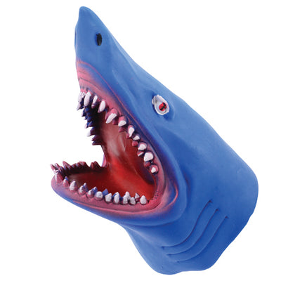 Stretchy Shark Hand Puppet (pack of 6) - Toys