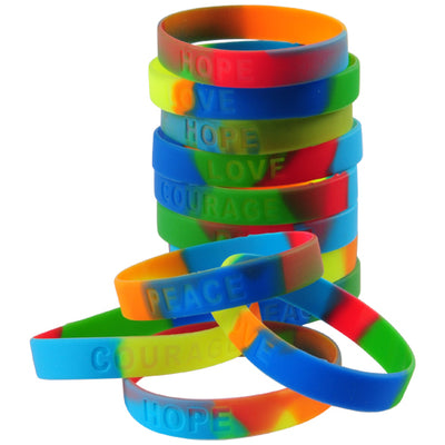 Rainbow Toy Bracelets (pack of 12) - Party Themes