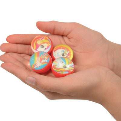 unicorn bounce balls 32 mm  - Carnival Supplies