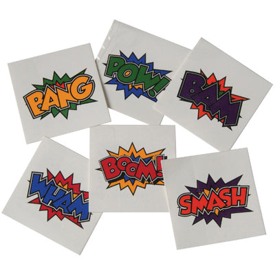 Superhero Tattoos (144 pieces) - Party Themes