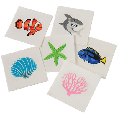 Coral Reef Tattoos (pack of 144) - Costumes and Accessories