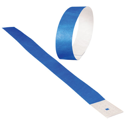 Adhesive Event Bands Blue (pack of 100) - Carnival Supplies