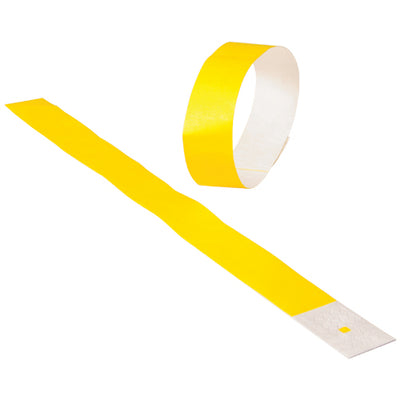 Adhesive Event Bands Yellow (pack of 100) - Carnival Supplies