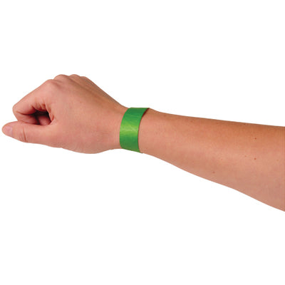 adhesive event bands green pack of 100 cs c18 10  - Carnival Supplies