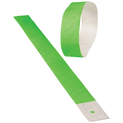 adhesive event bands neon green pack of 100 cs c19 89  - Carnival Supplies