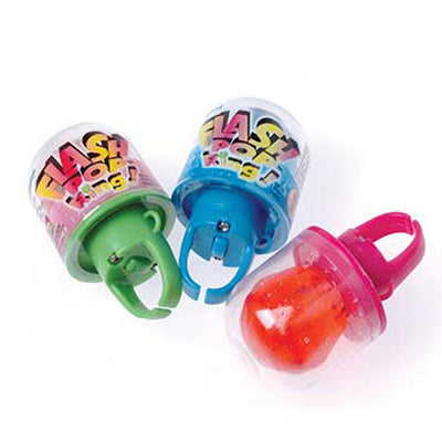Flash Pop Rings (Box Of 24) - Party Supplies