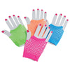 Short Neon Mesh Gloves, 12-Pair - Costumes and Accessories