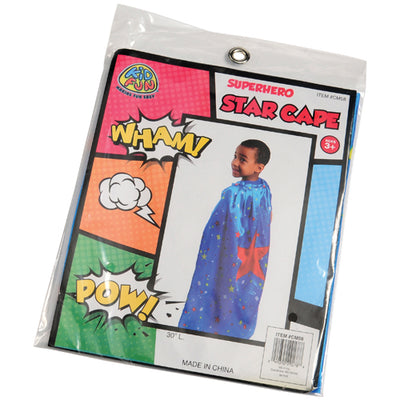 superhero star cape  - Carnival Supplies