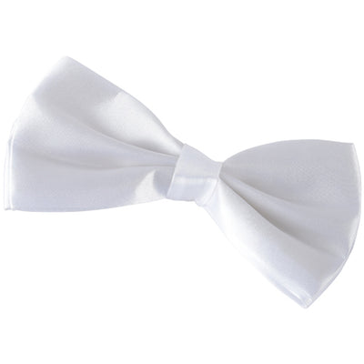 Clip On Bowtie White - Costumes and Accessories