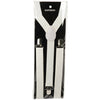 Adult Suspenders White (pack of 12) - Costumes and Accessories