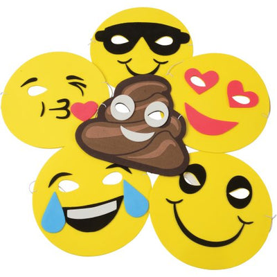Emoticon Foam Masks (1 Dozen) - Party Themes