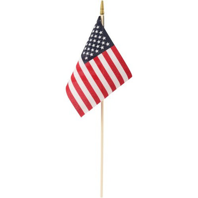 4th Of July Usa Flags 8 In. X 12 In. Cloth (One Dozen) - Holidays
