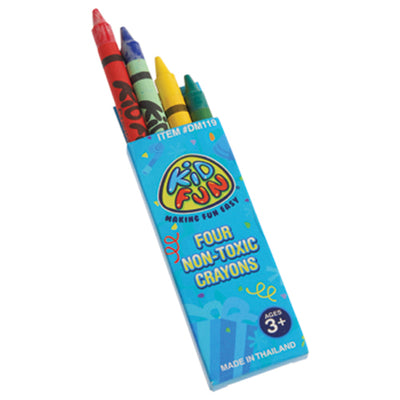 Crayons 4-Box (One Dozen) - by Carnival Source Discount Toys