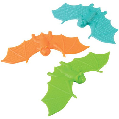 Halloween Plastic Bats (set of 6) - Holidays
