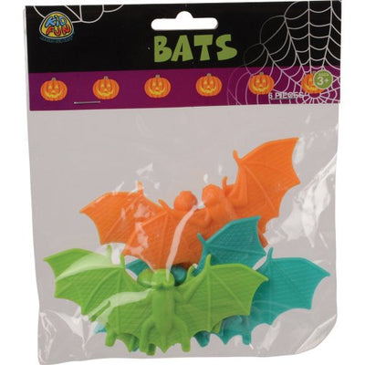 halloween plastic bats set of 6   Novelties and Toys