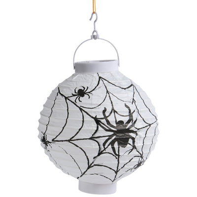light up spider web lantern  - Carnival Supplies