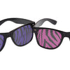 Neon Zebra Print Lens Glasses - Costumes and Accessories