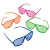Neon Shutter Shades (one dozen) - Costumes and Accessories