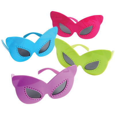 Butterfly Mask Glasses (one dozen) - by Carnival Source Discount Toys