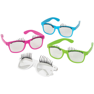 Eyelash Toy Sunglasses (pack of 12) - Costumes and Accessories