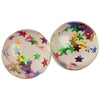 Glitter Balls with Stars - 35mm (1 Dozen) - Toys