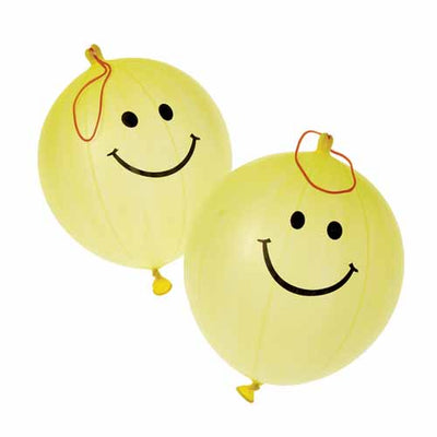 Smile Face Punch Balls (One dozen) - Toys