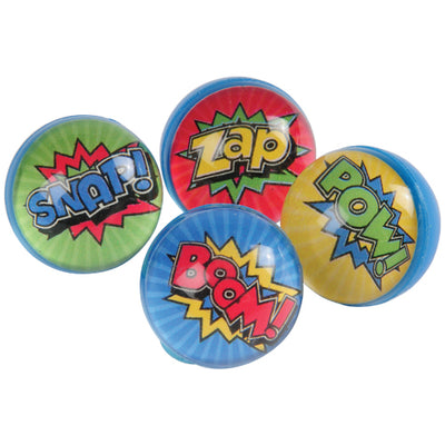 Superhero Bounce Balls 32Mm (pack of 12) - Party Themes