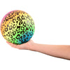 rainbow cheetah print ball 6 inch 1 dozen  - Carnival Supplies