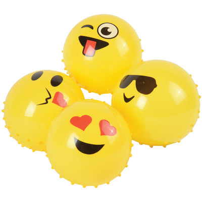 Emoji Knobby Balls 5 inch (1 Dozen) - Party Themes