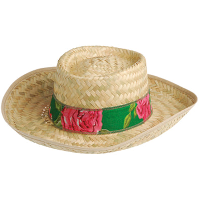straw hats gambler hat  - Carnival Supplies