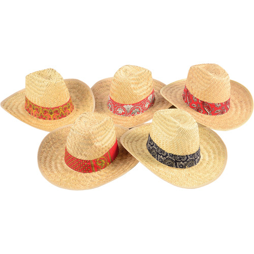 8a4f1bb0da878 Bandanna High Crown Cowboy Hat (Assorted Styles) - Costumes and Accessories
