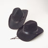 Black Foam Felt Cowboy Hat - Costumes and Accessories