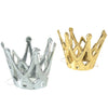 Miniature Metallic Party Crowns with Elastic Chin Strap (1 dozen) - Costumes and Accessories