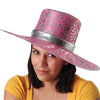 Metallic Pink Big Mama Hat - Costumes and Accessories