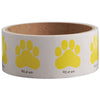 Paw Print Stickers-Yellow, 100 per roll - School Stuff