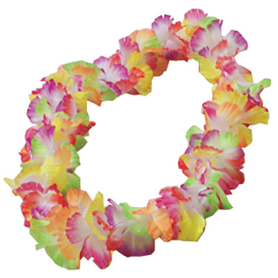 Large Petal Leis - Rainbow (One dozen) - Party Themes