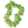 Two Tone Large Petal Leis, Green (one dozen) - Party Themes
